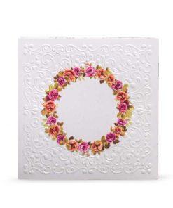 ברכון דגם פרחים - ברכת המזון כריכה בעיצוב חדשני ומרהיב בשילוב הטבעות, 12 עמודים. ניתן להזמין את הברכון באמצעות האתר או בטלפון: 02-5000599